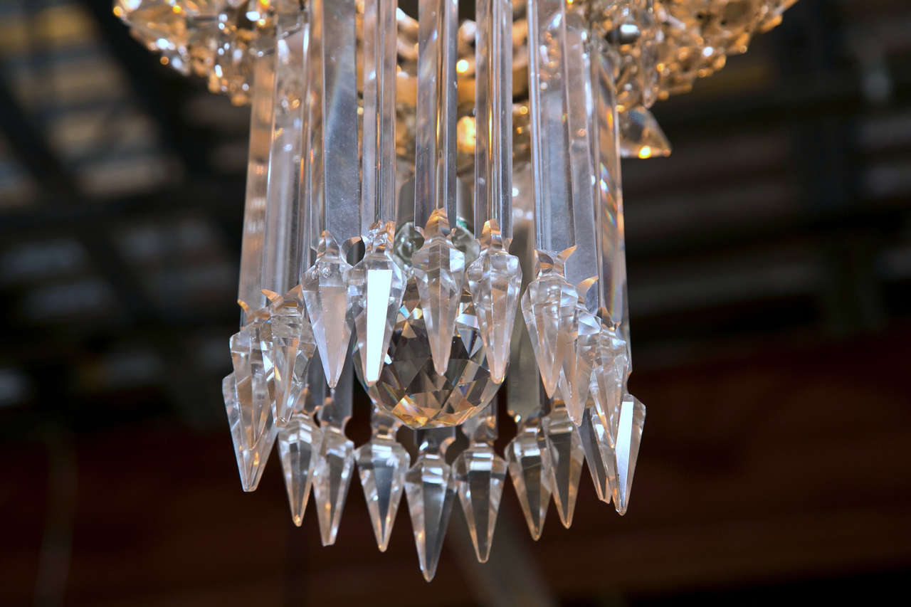 Roaring 1920s crystal waterfall chandelier at 1stdibs american roaring 1920s crystal waterfall chandelier for sale aloadofball Gallery