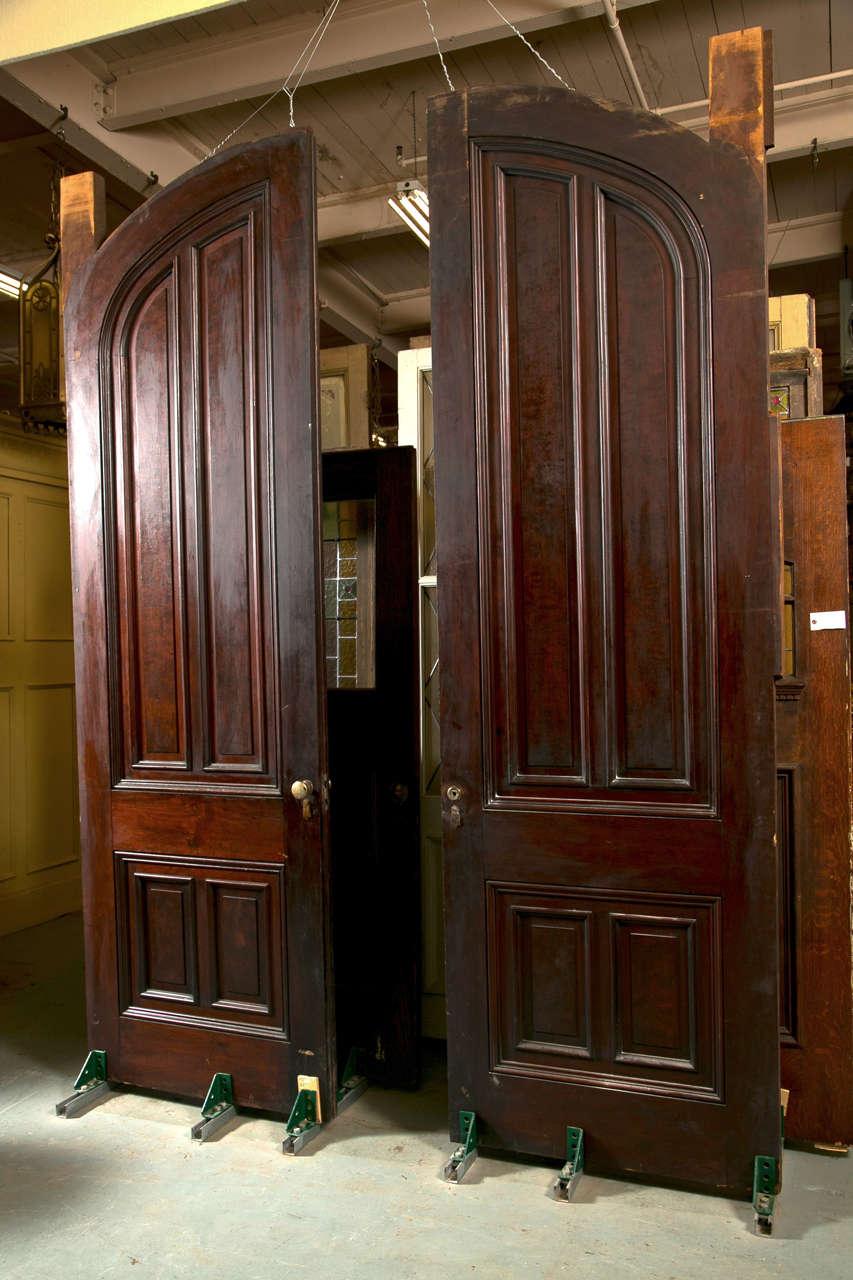 Antique Walnut Raised Panel Pocket Doors At 1stdibs