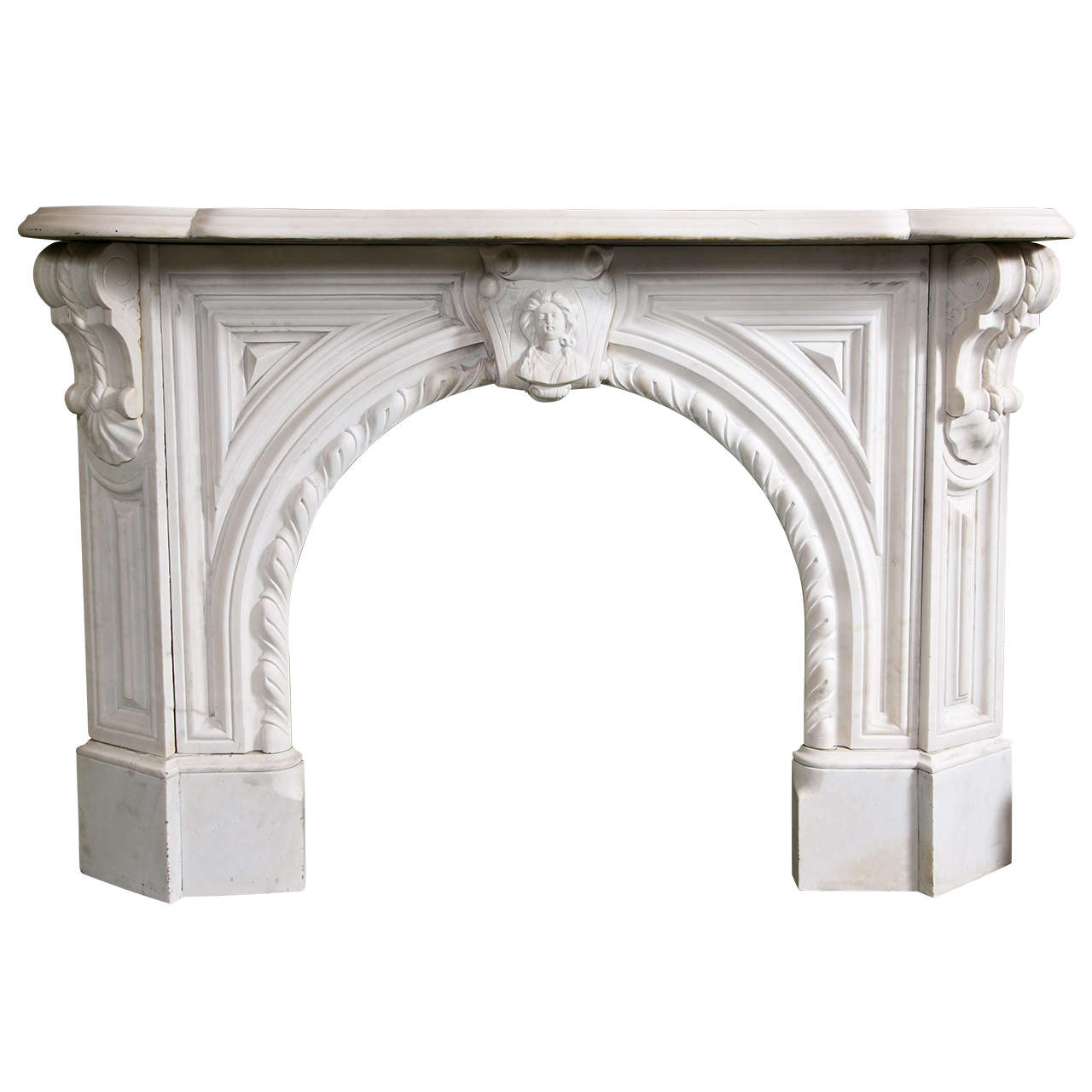 Victorian White Marble Arched Mantel At 1stdibs