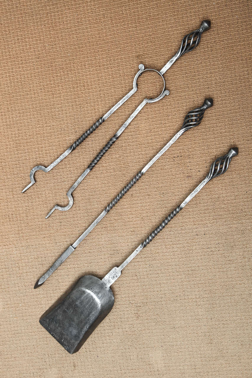 Set of Arts and Crafts Fire Tools For Sale 2