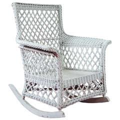 Stick Wicker Rattan Rocking Chair