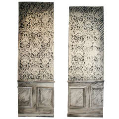 Pair of Faux Painted Panels