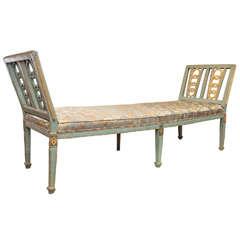 Italian Louis XVI Painted Bench