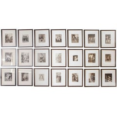 Set of 40 Framed German Art Plate Engravings