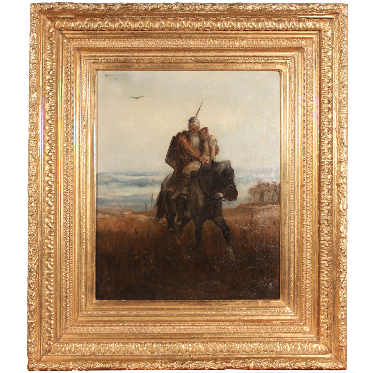 German Painting, Signed and Dated 1898