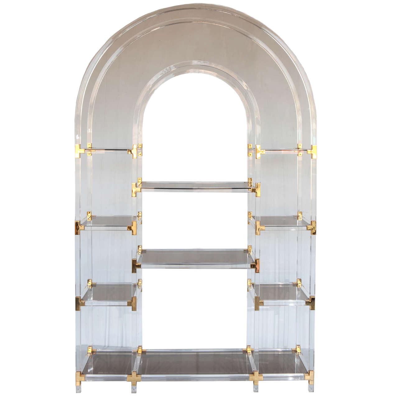 exceptional lucite etagere at 1stdibs. Black Bedroom Furniture Sets. Home Design Ideas