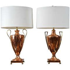 Similar Pair of Regency Urn Lamps