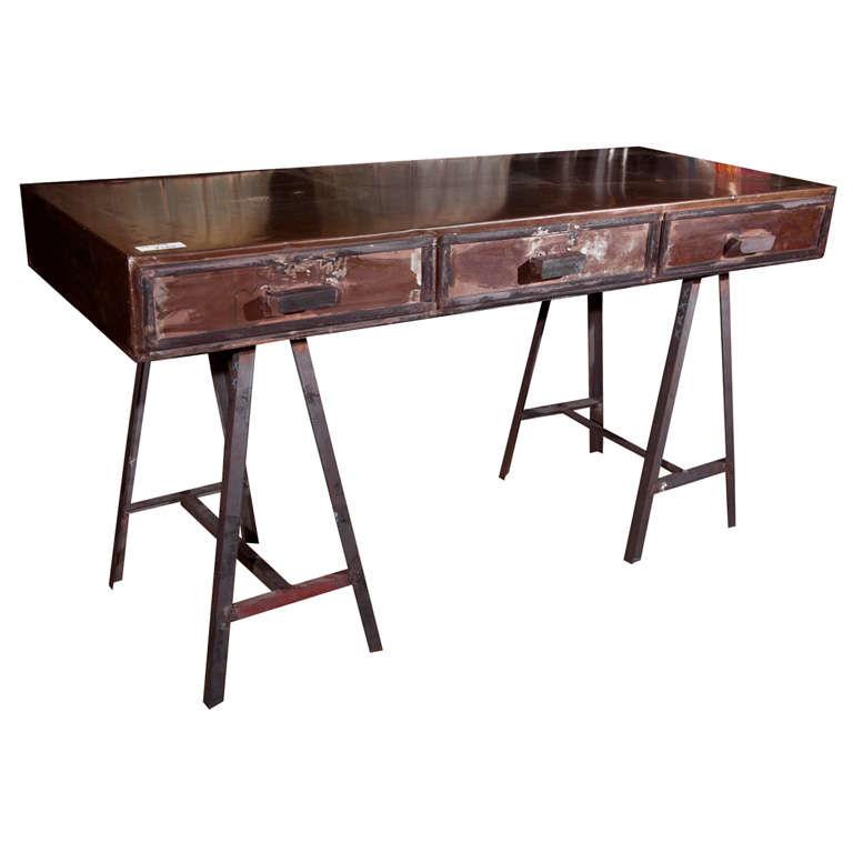 metal writing desk