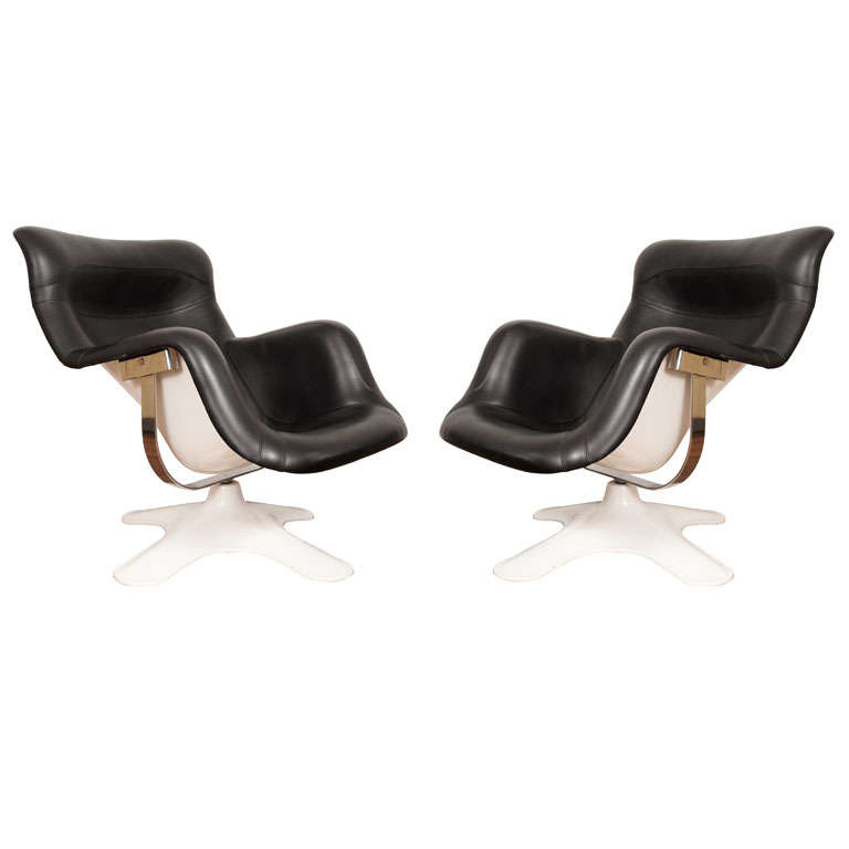 Pair of Yrjö Kukkapuro 'Karuselli' Lounge Chairs for Haimi 1