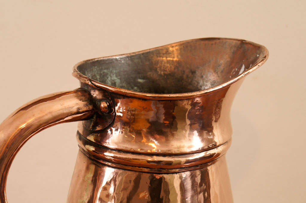 English Copper Measuring Pitcher at 1stdibs