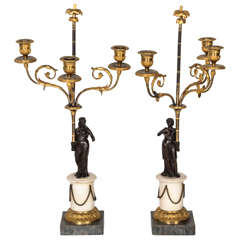 Pair of 18th Century Candelabra, France