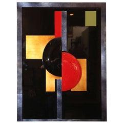 Eliade Ispas Cubist/Constructivist Lacquer Panel
