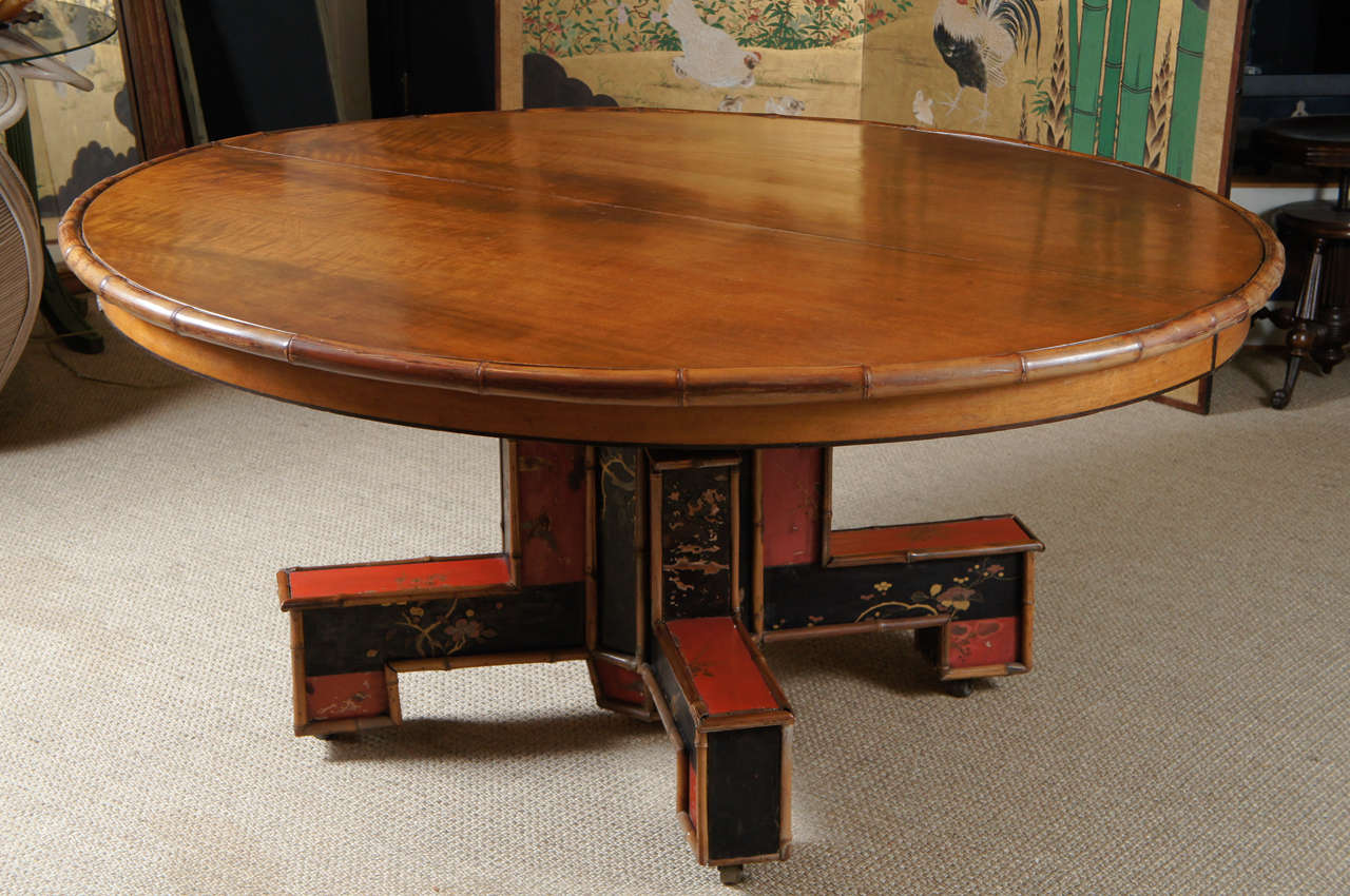 A beautiful custom oval dining table for sale at 1stdibs - Unique kitchen tables for sale ...