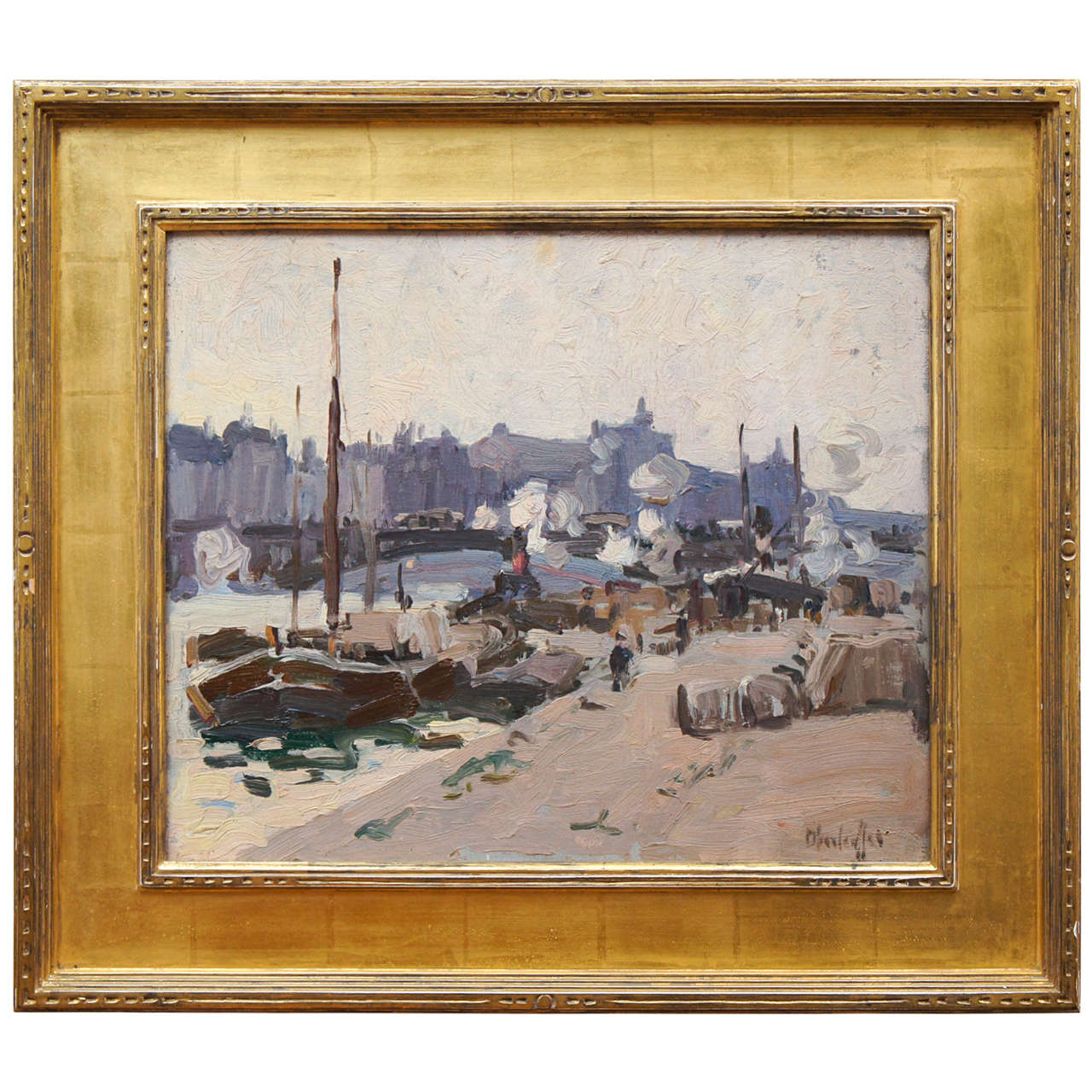 View Along the Thames by George Oberteuffer For Sale