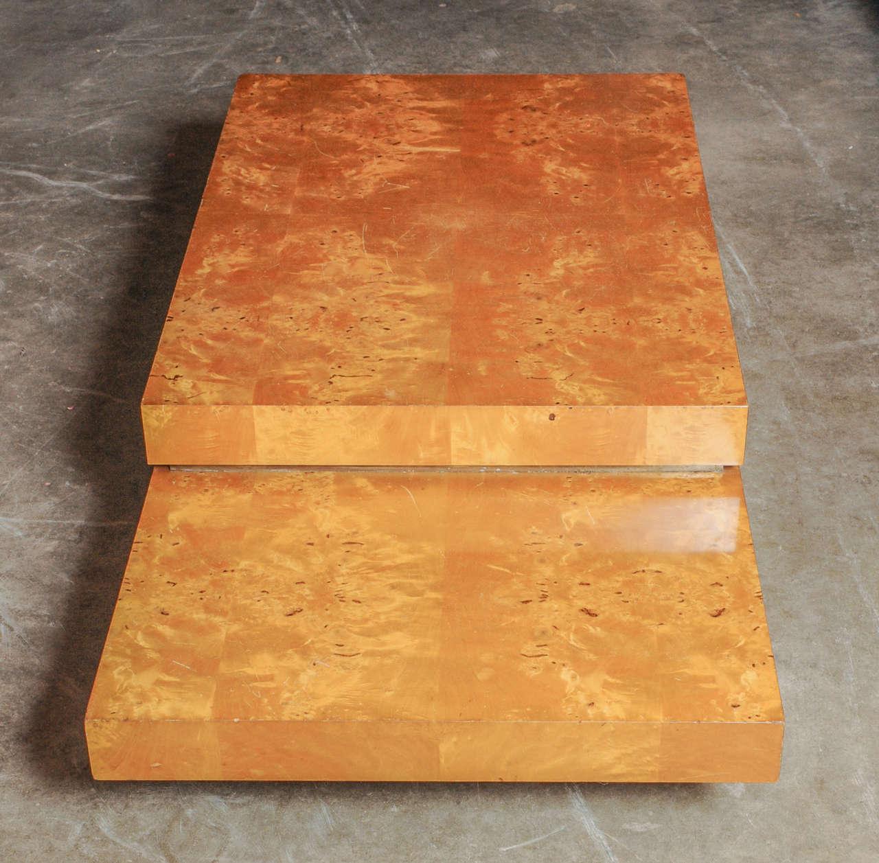 Lemon Wood Furniture ~ Lemon wood rolling coffee table at stdibs