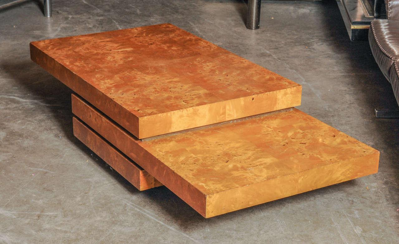lemon wood rolling coffee table at 1stdibs. Black Bedroom Furniture Sets. Home Design Ideas