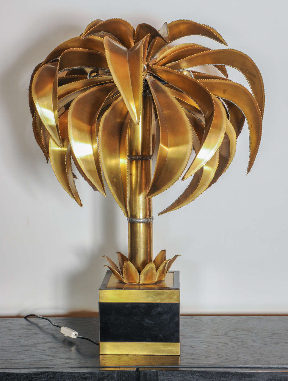 Palm Tree Floor Or Table Lamp By Maison Jansen At 1stdibs