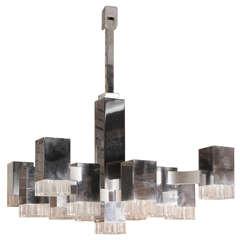 "Large chandelier Cubic"" by Geatano Sciolari"