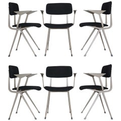 "Set of 6 industrial chairs ""Result"" by Friso Kramer for Ahrend"