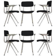 """Set of 6 industrial chairs """"Result"""" by Friso Kramer for Ahrend"""