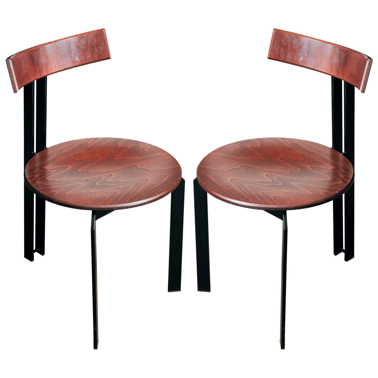 4x Industrial Look Dining Chairs At 1stdibs