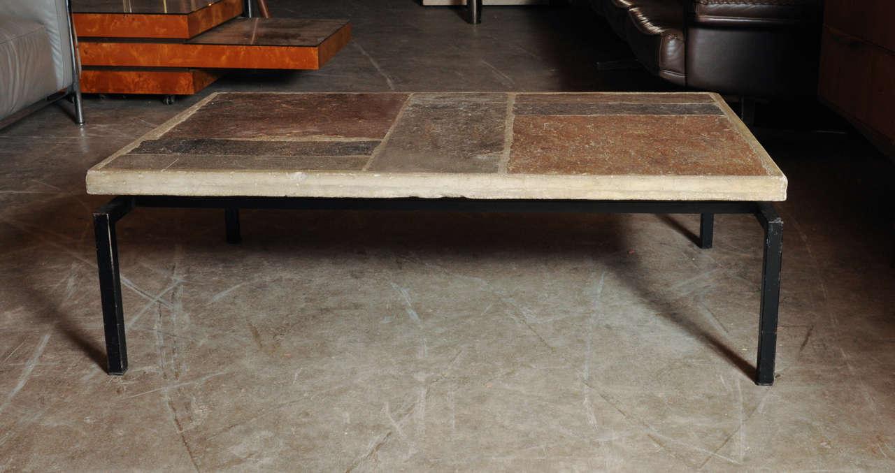 Slate Stone Coffee Table By Paul Kingma At 1stdibs