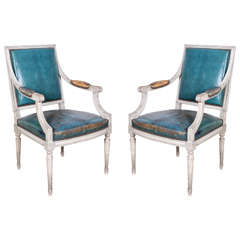Pair of French Early 20th Century Armchairs