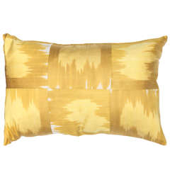 Mustard Yellow Silk and Cotton Pillow