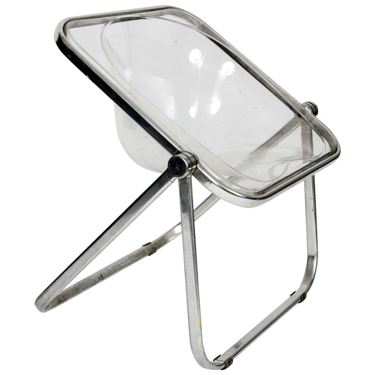 1960s Giancarlo Piretti U0027Pliau0027 Clear Folding Chair For Sale