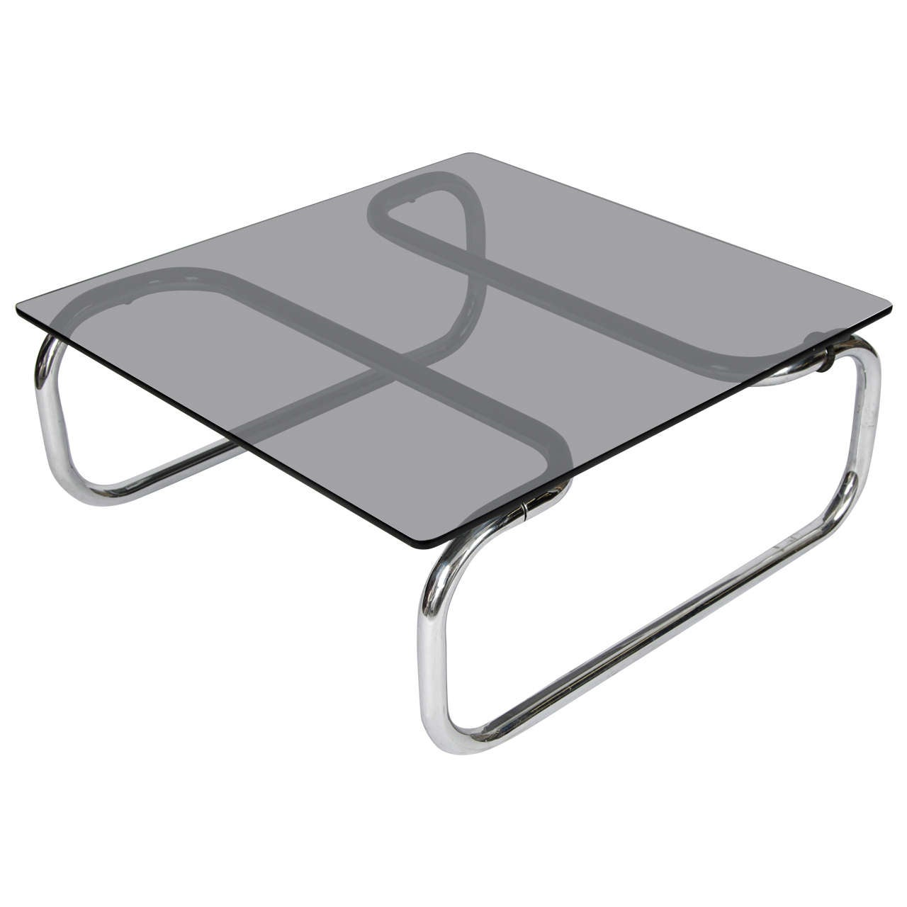 Glass And Chrome Coffee Table At 1stdibs