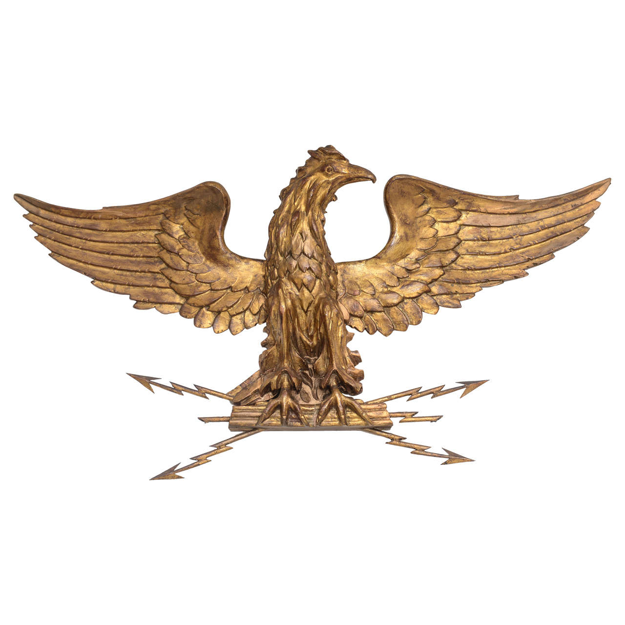 Majestic Carved And Gilded Wood Eagle At 1stdibs