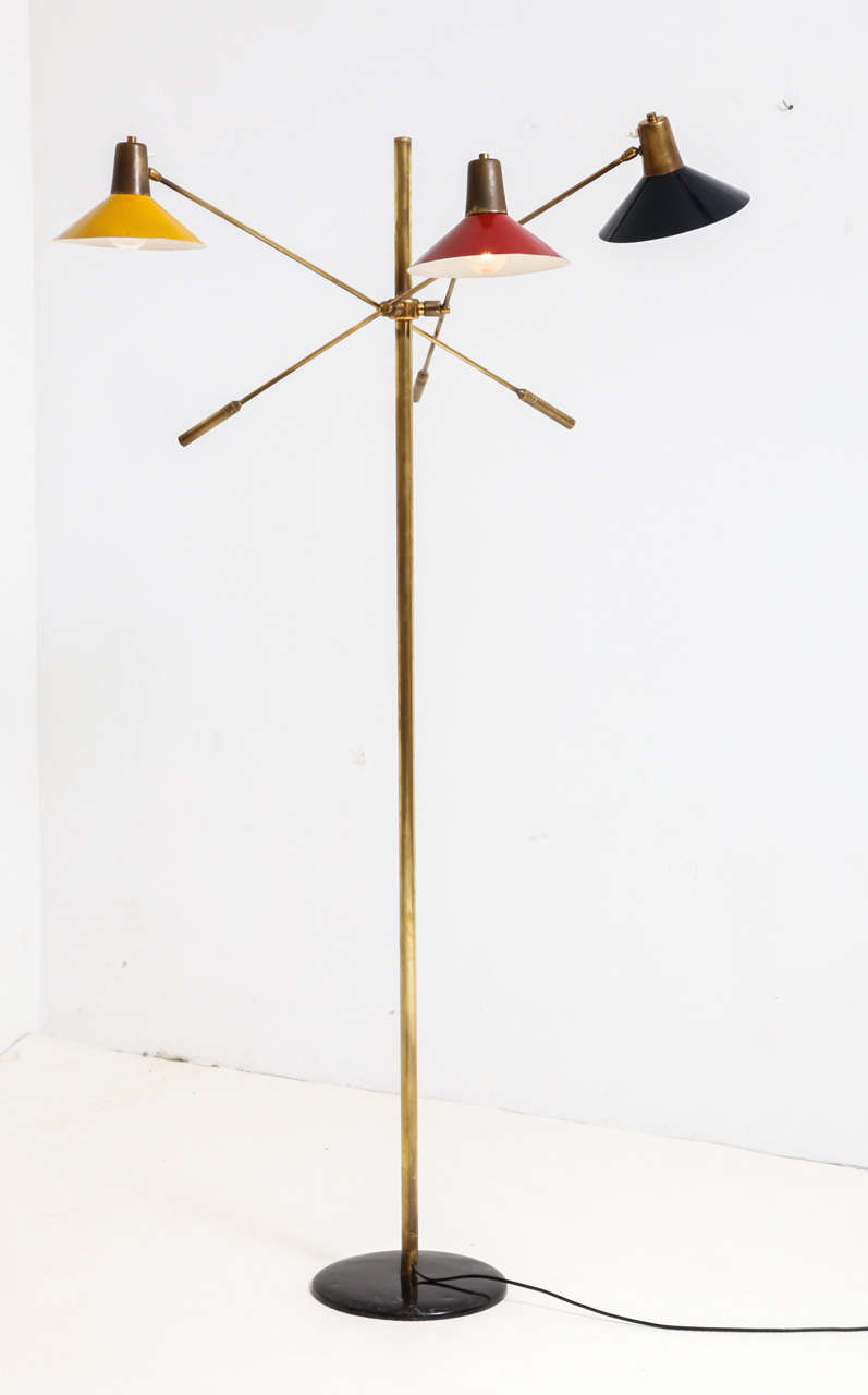 Triennale, floor lamp, Italy, 1950s.
