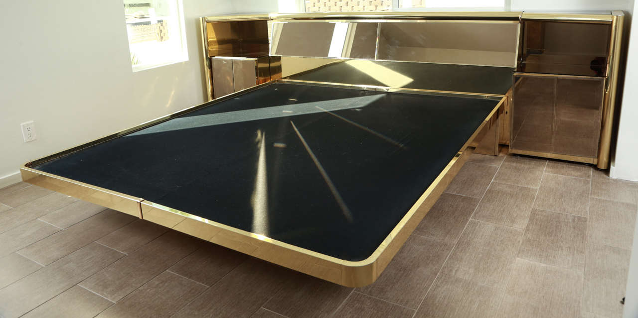 Genial Stunning Brass And Bronze Mirrored Bed Set By Ello. The Bed Is King Size