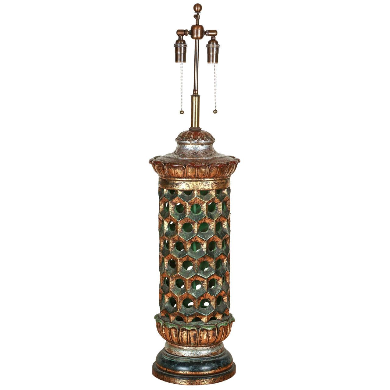 Grand Ceramic Table Lamp by Nrdini