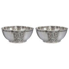 Pair of Chinese Silver Bowls