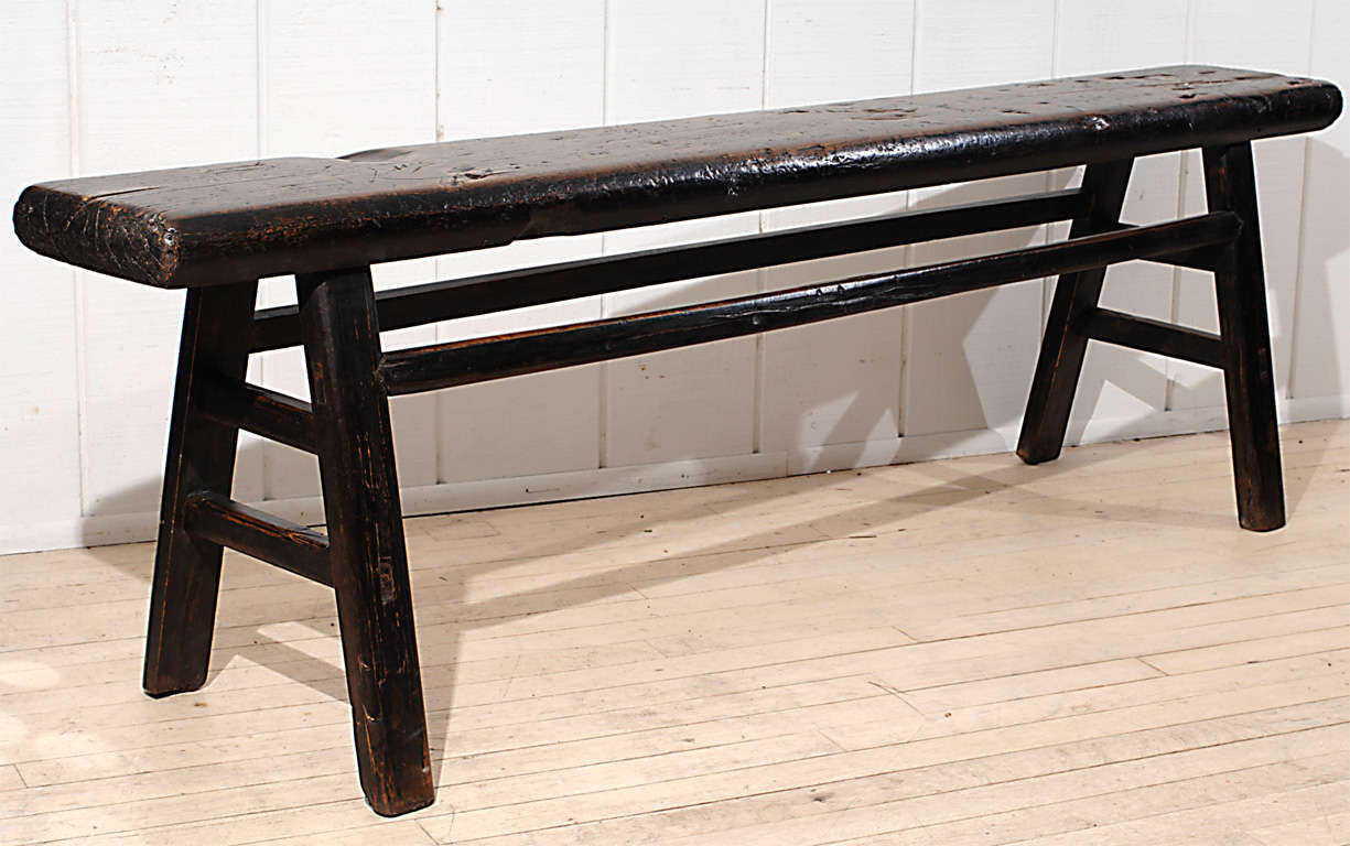 Narrow Rustic Bench At 1stdibs