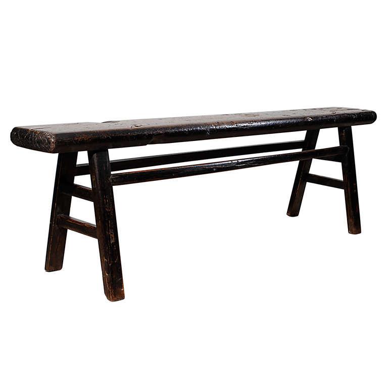 Narrow Rustic Bench