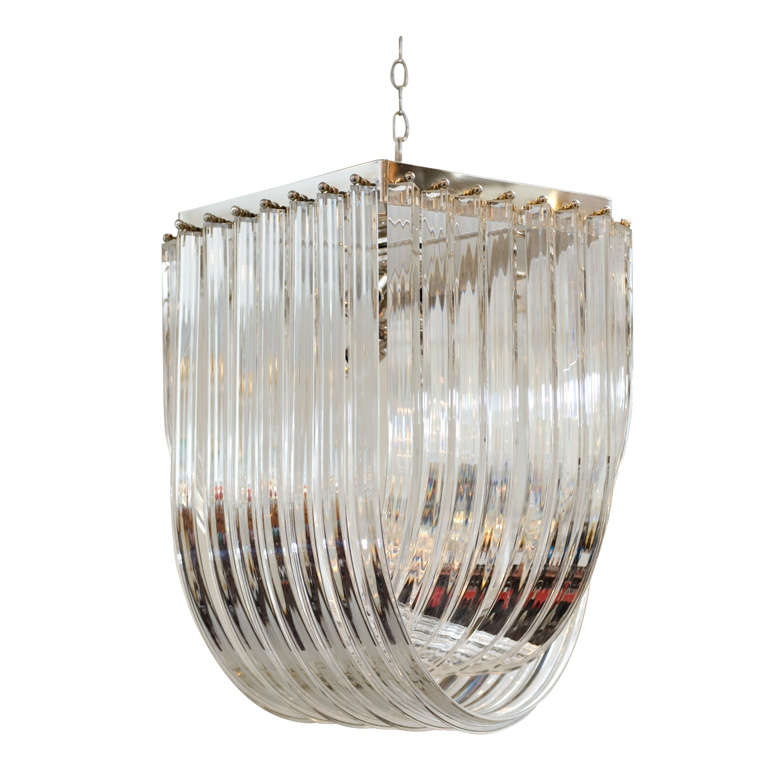 Venini Style Lucite Chandelier At 1stdibs