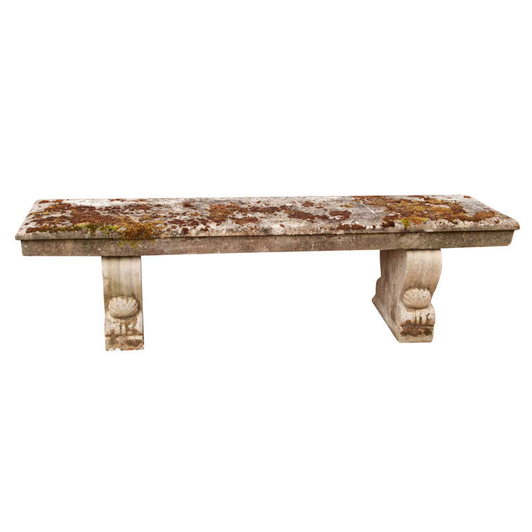 Long Stone Garden Bench At 1stdibs