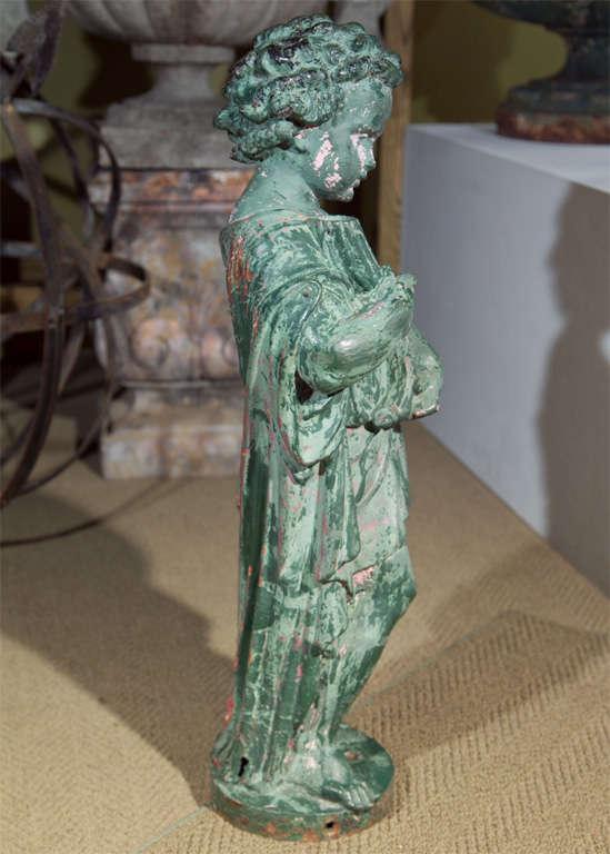 19th Century Cast Iron Putti Fountainhead For Sale