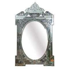 Venetian Style Cut Glass Mirror