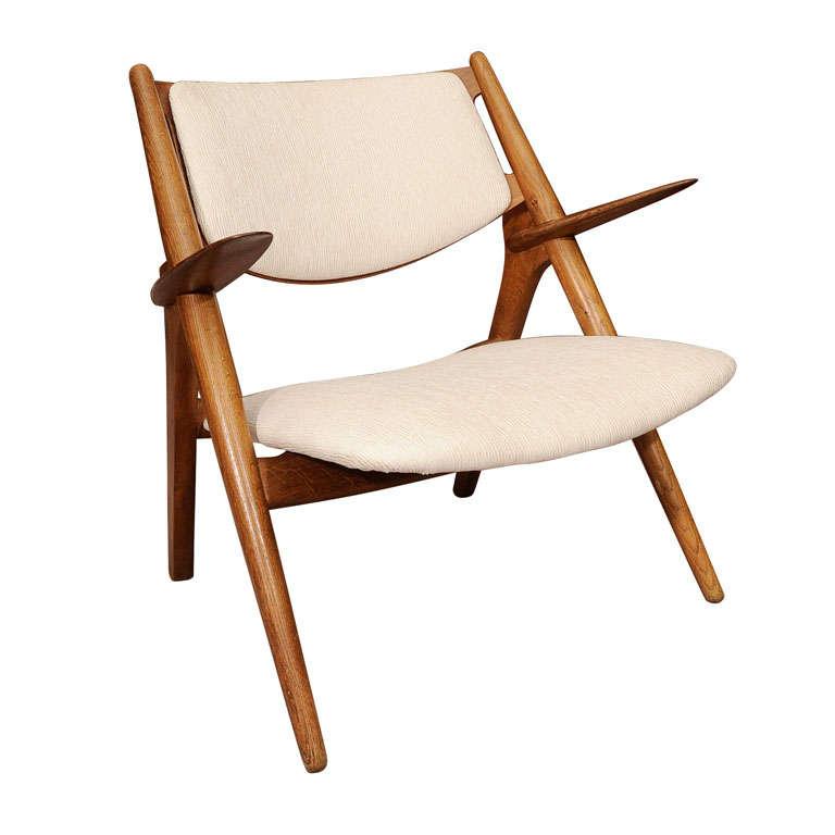 Vintage Sawbuck Chair By Hans Wegner At 1stdibs