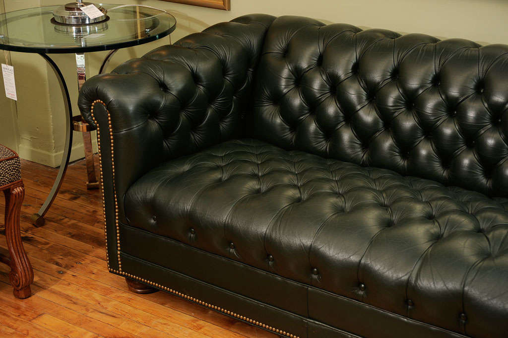 Vintage Chesterfield Sofa by Leathercraft at 1stdibs