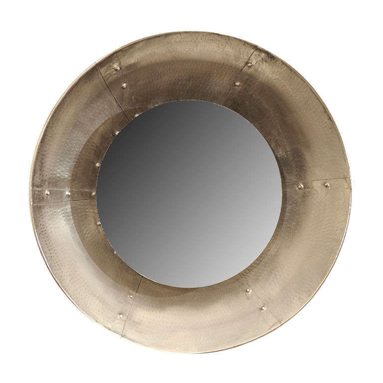 Mid century industrial style porthole mirror at 1stdibs for Porthole style mirror