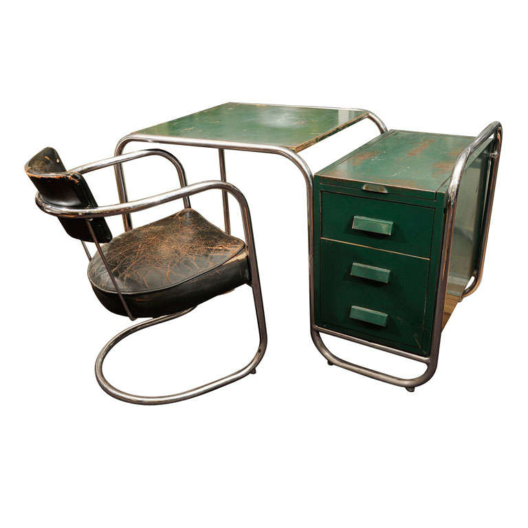 Very Rare KEM Weber Desk And Chair For Sale At 1stdibs