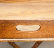 English Dark Oak Butler's Tray Table on Stand image 6