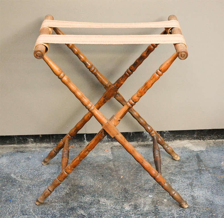 English Dark Oak Butler's Tray Table on Stand 8