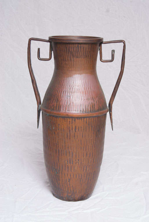 A Set of Seven Italian Arts and Crafts Style Copper Vessels 8