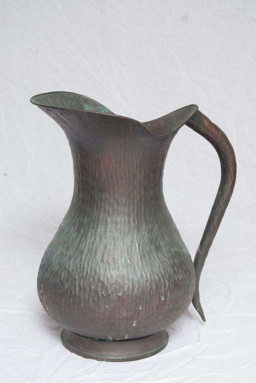 A Set of Seven Italian Arts and Crafts Style Copper Vessels 9