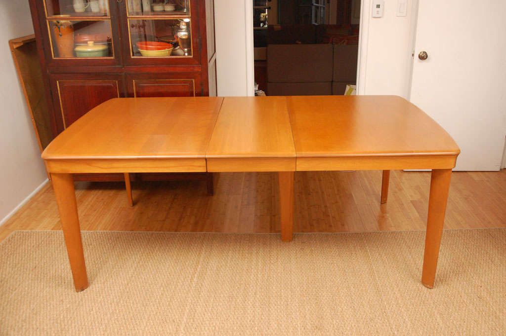 heywood wakefield dining table with two leaves at 1stdibs